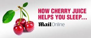 Drinking CherryActive for better sleep